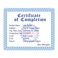 Florida drug and alcohol course certificate of completion